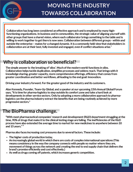 Whitepaper: Moving the Industry Towards Collaboration