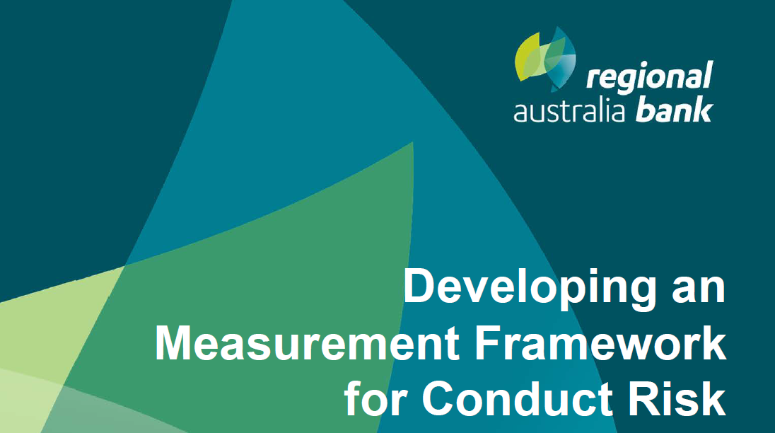 Developing a Measurement Framework at a Community Mutual Group to Mitigate Conduct Risk