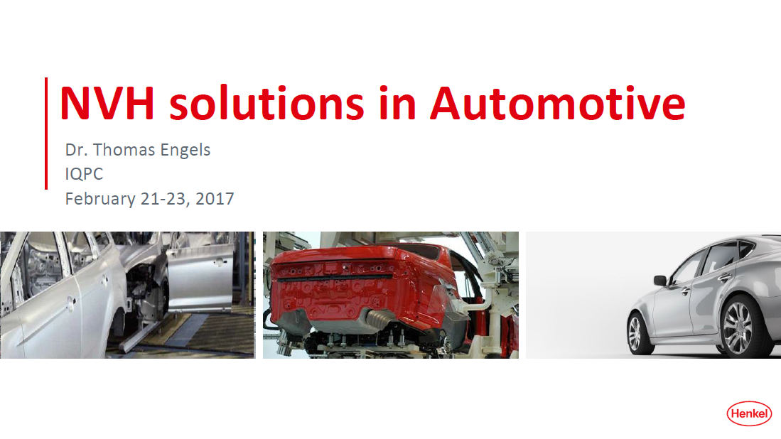 HENKEL Presentation on NVH solutions in Automotive