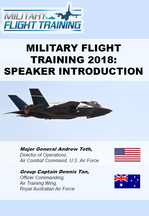 Military Flight Training 2018: Speaker introduction