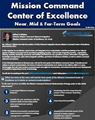 Mission Command Center of Excellence  Near, Mid & Far-Term Goals