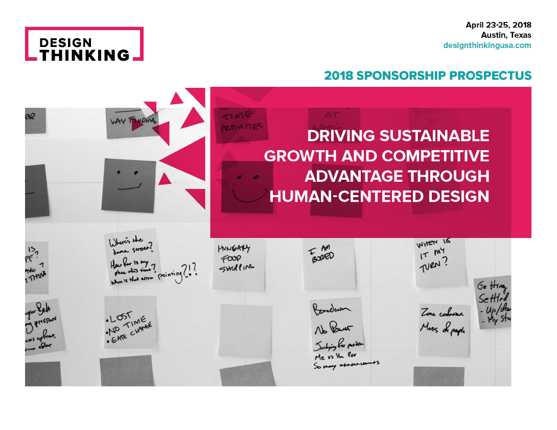 2018 Design Thinking Sponsorship Prospectus
