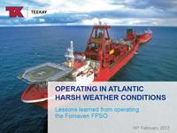 Operating in Atlantic Harsh Weather Conditions - Lesson learned from operating the Foinaven FPSO