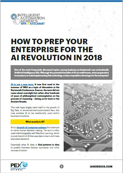 How to prep your enterprise for the AI Revolution in 2018
