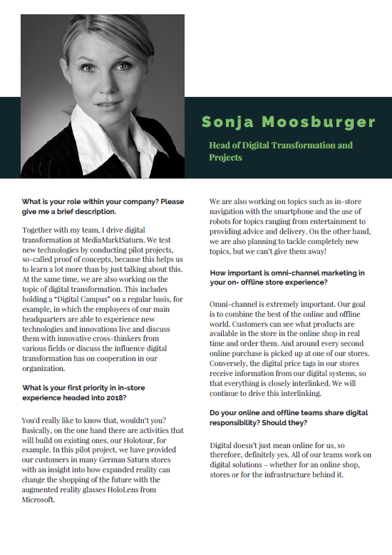 Interview with Sonja Moosburger - MediaMarktSaturn