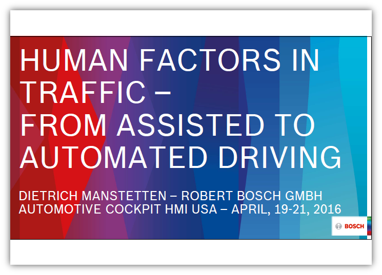 Human Factors in Traffic - From Assisted to Automated Driving