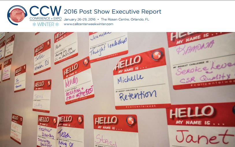 CALL CENTER WEEK WINTER 2016: POST SHOW REPORT