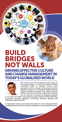 Build Bridges Not Walls: Driving Effective Culture and Change Management in Today's Globalised World