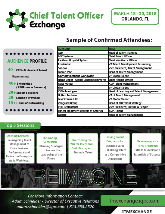 2018 CTO Exchange Attendees List