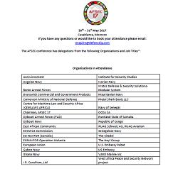 AFSEC 2017 Delegate List