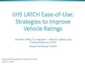 IIHS LATCH Ease-of-Use: Strategies to Improve Vehicle Ratings