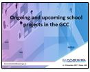 Ongoing and upcoming school projects in the GCC