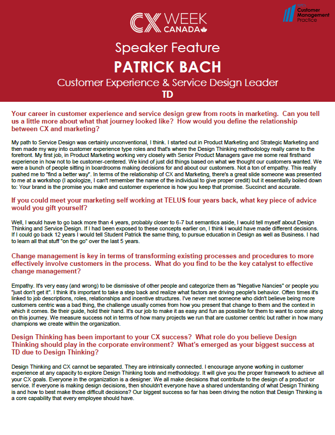 Speaker Feature: Patrick Bach
