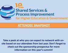Shared Services for Higher Ed and Government Attendee List