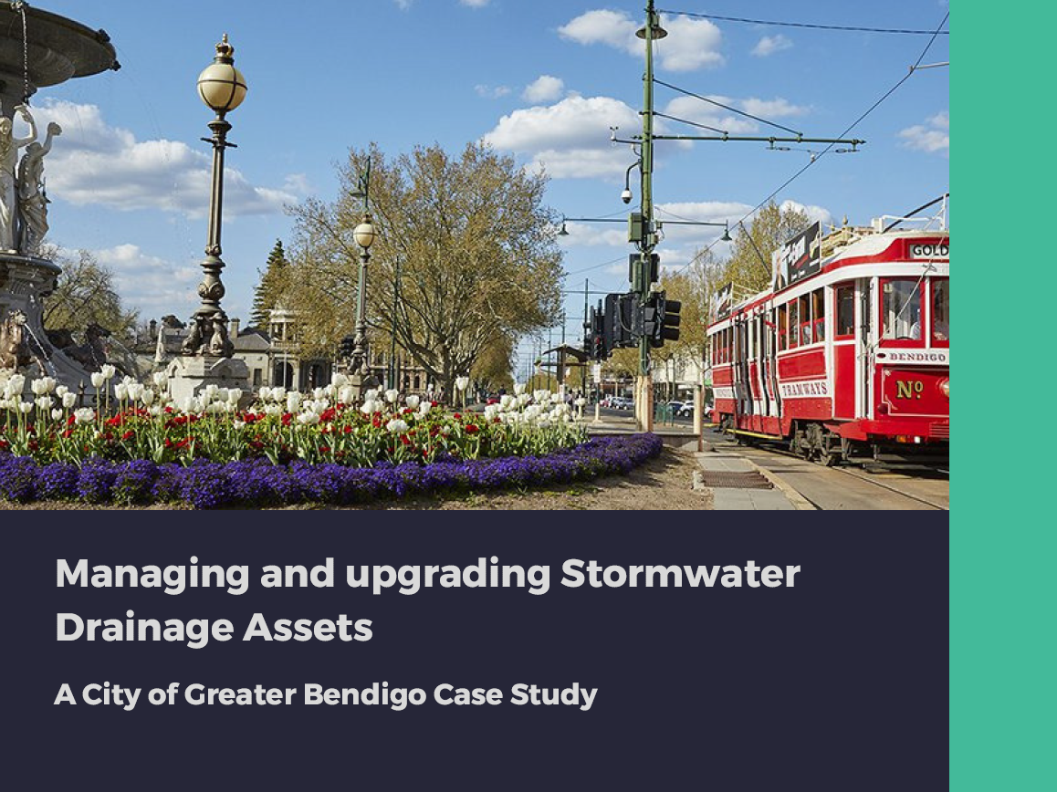 Managing and upgrading Stormwater Drainage Assets: A City of Greater Bendigo Case Study