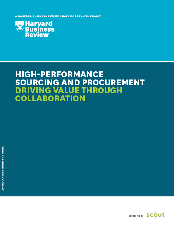High Performance Sourcing and Procurement
