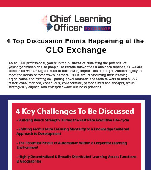 4 Top Discussion Points Happening at the 2017 Chief Learning Officer Exchange