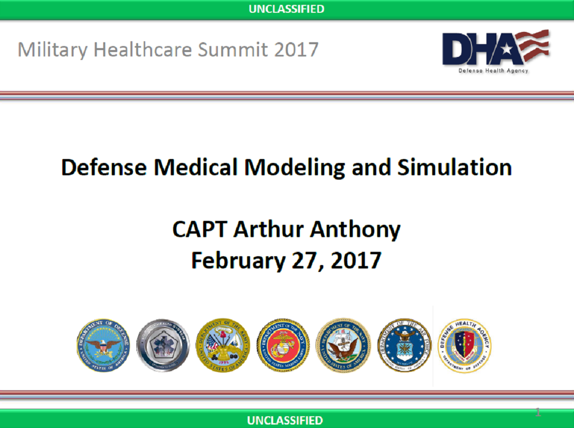 Defense Medical Modeling and Simulation