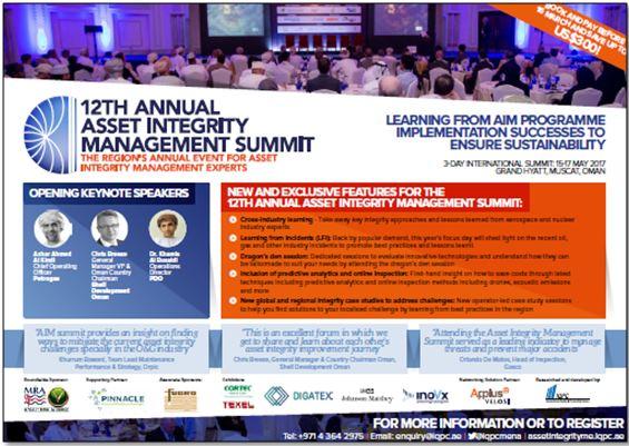 Agenda - 12th Annual Asset Integrity Management Summit
