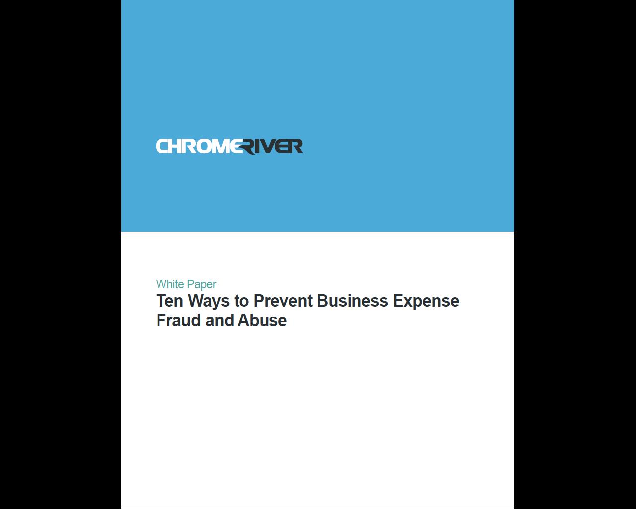 Chrome River - 10 Ways to Reduce Expense Fraud
