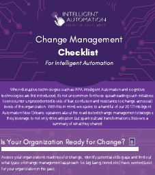 Intelligent Automation Change Management Checklist