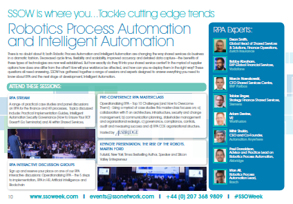 SSOW  Robotics Process Automation and Intelligent Automation