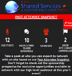 4th Annual Shared Services and Outsourcing Summit - Canada Past Attendee List