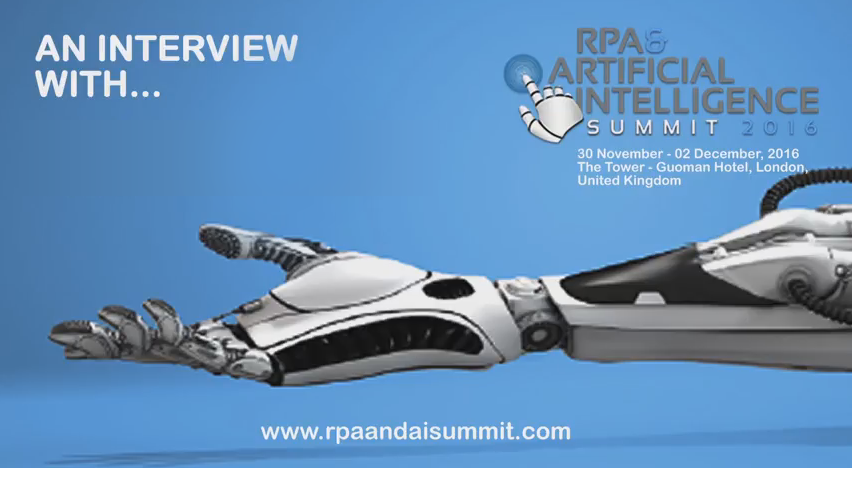 RPA and AI Summit 2016: Swiss RE Interview with Jose Ordinas Lewis