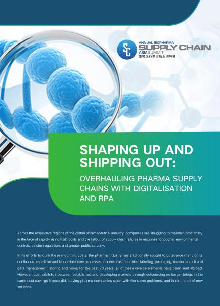 Shaping up and shipping out: Overhauling the Pharma Supply Chain with digitalisation and RPA