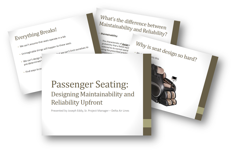 Passenger Seating: Designing Maintainablitity and Reliability Upfront