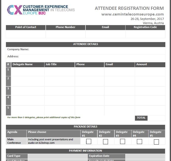 Fast Track Registration Form