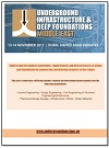 Agenda Preview - Underground Infrastructure and Deep Foundations Middle East