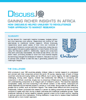 Gaining Richer Insights in Africa: How Discuss.io Helped Unilever to Revolutionize Their Approach to Market Research