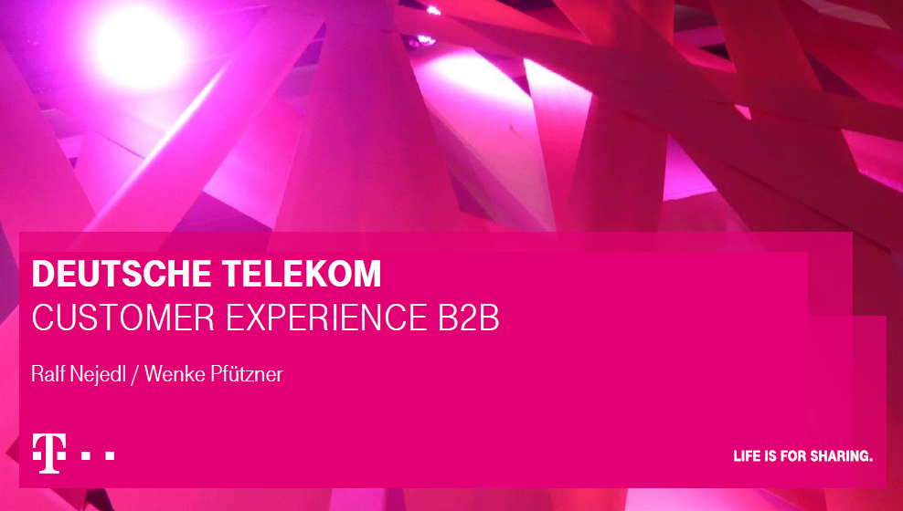 DEUTSCHE TELEKOM Customer experience B2B Presentation