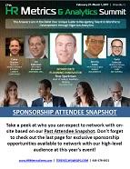 17th HR Metrics & Analytics Summit - Current Attendee Snapshot