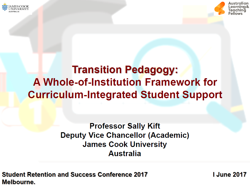 Transition Pedagogy: A Whole-of-Institution Framework for Curriculum-Integrated Student Support.