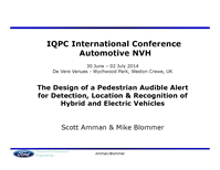 Ford presents: Mastering EV/HEV acoustic and NVH challenges