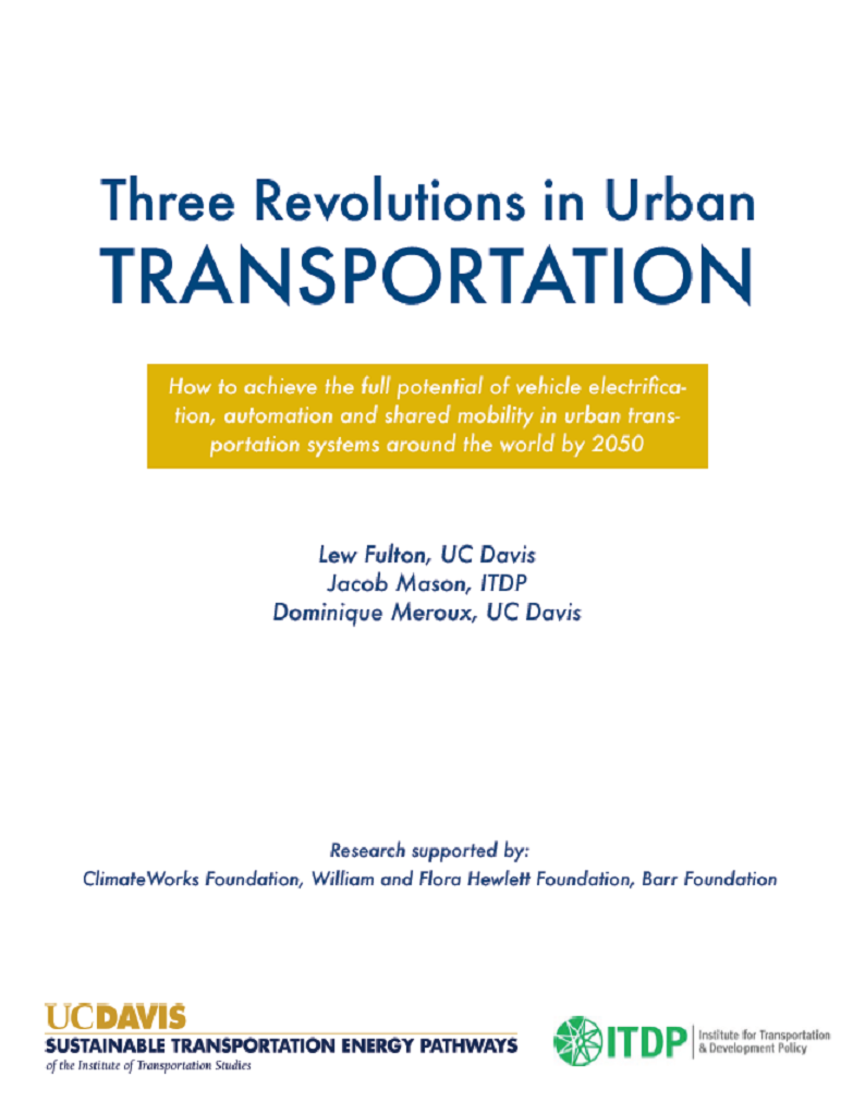 Three Revolutions in Urban Transportation