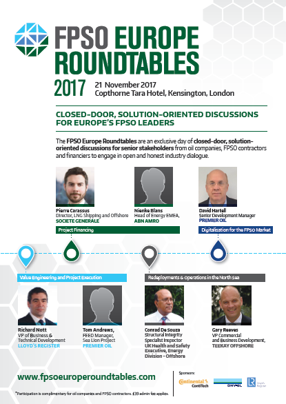 FPSO Europe Roundtables 2017