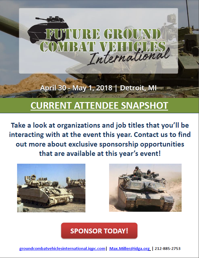 Future Ground Combat Vehicles Int. - Attendee snapshot - spex
