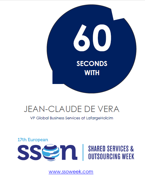 60 Seconds with Jean-Claude de Vera | Shared Services and Outsourcing Week