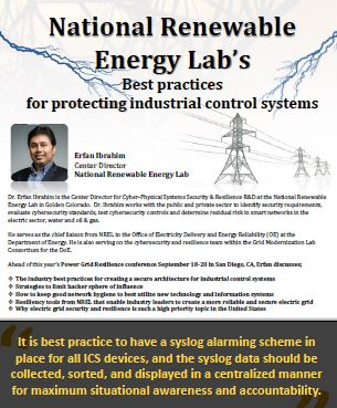 National Renewable Energy Lab's: Best practices for protecting industrial control systems