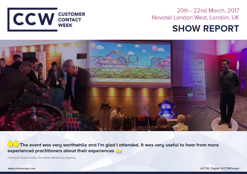 CUSTOMER CONTACT WEEK 2017 SHOW REPORT