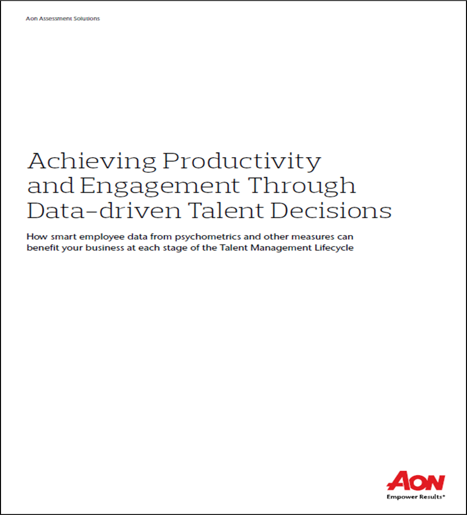 Achieving Productivity and Engagement Through Data-driven Talent Decision