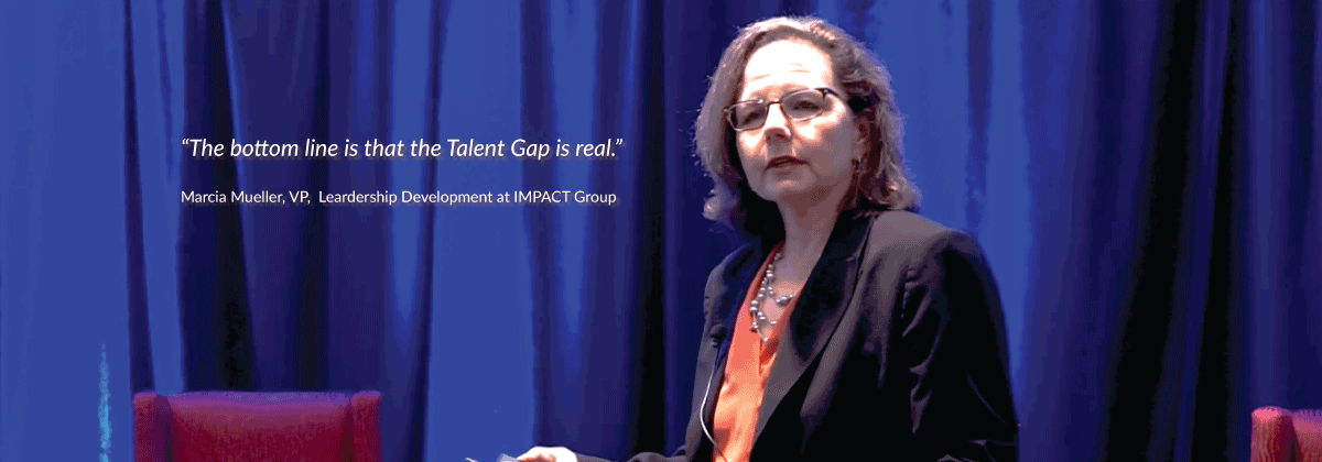 Marcia Mueller. VP of IMPACT Group, talks about the talent gap at CHRO Exchange 2017