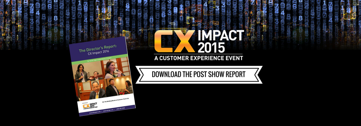 The Director's Report: CX Impact 2016