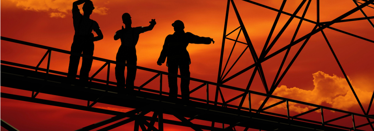 Stage Sunset Oil Workers