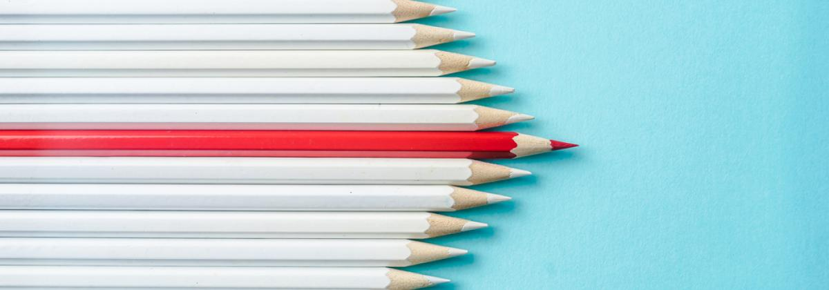 Stand out pencil
