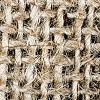Visible natural fibres for automotive interior