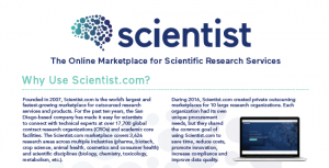 Scientist.com: The Online Marketplace for Scientific Research Services